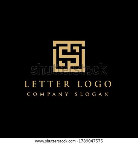 Initial TS ST Logo Design Element, Vector Initial Letter Branding Logo Stok fotoğraf ©