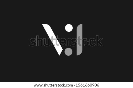 Initial V ,J, VJ ,JV Letter Logo Design Stock fotó ©