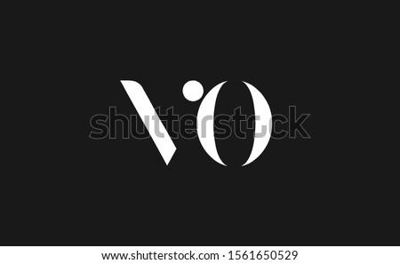 Initial V ,O ,VO ,OV Letter Logo Design Stock fotó ©