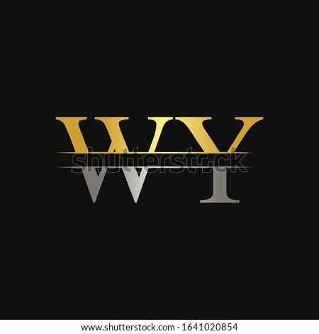 Initial WY Letter Linked Logo. Creative Letter WY Logo Design Vector Template Zdjęcia stock ©