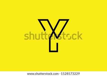 Initial Y YY YX XY modern monogram and elegant logo design, Professional Letters Vector Icon Logo on black background. Foto stock ©