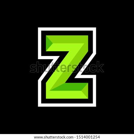 Initial Z Gaming  Esport Logo Design Template Inspiration, Zdjęcia stock ©
