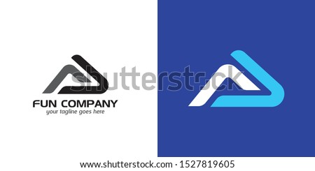 Initials FA, AF, FAL, AFL logo identity with minimalist concepts, technology and sporty Stock fotó ©
