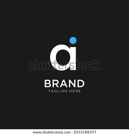 initials letter id,di,d,ia,ai, modern Logo icon design. Vector graphic design template elements. Graphic Symbol for Corporate Business Identity. Foto stock ©