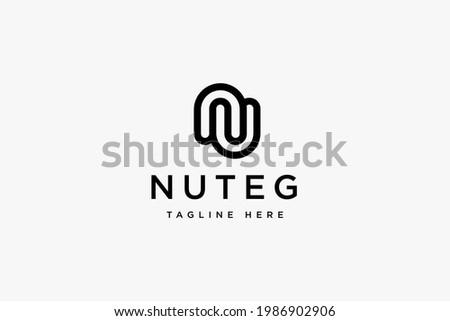 Initials letter NU logo design vector illustration. Letter NU suitable for business fashion company logos. Foto stock ©