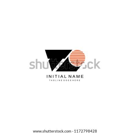 initials logo ti Imagine de stoc ©