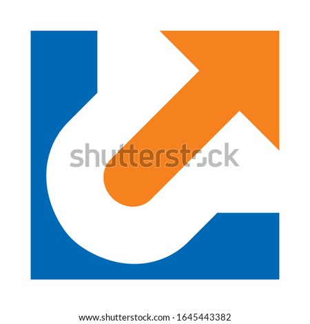 initials LU for logo design, financial business companies, technology companies