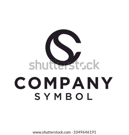 Initials Monogram CS SC Letter Circular Yin Yang logo design  Stock fotó ©