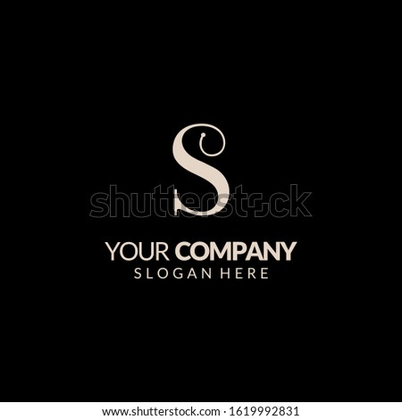 Initials S Logo Creative Template Sign Vector