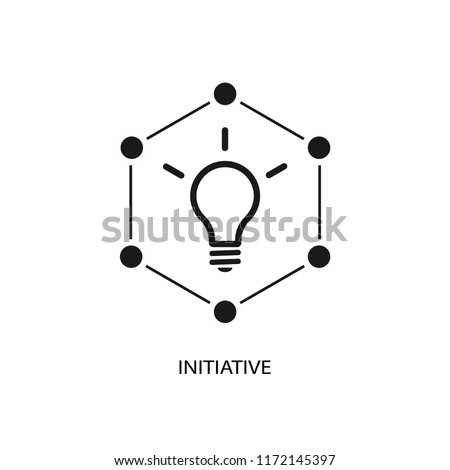 Initiative vector icon.
