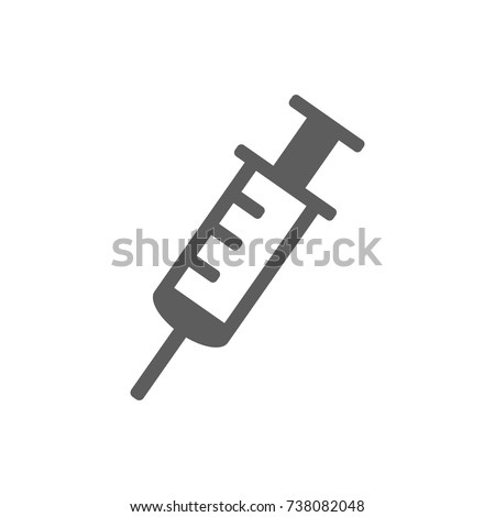 Injection noodle icon in trendy flat style isolated on white background. Symbol for your web site design, logo, app, UI. Vector illustration, EPS
