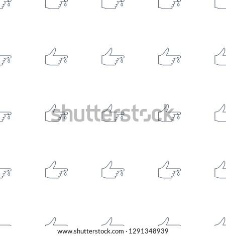 injured finger icon pattern seamless white background. Editable line injured finger icon. injured finger icon pattern for web and mobile.