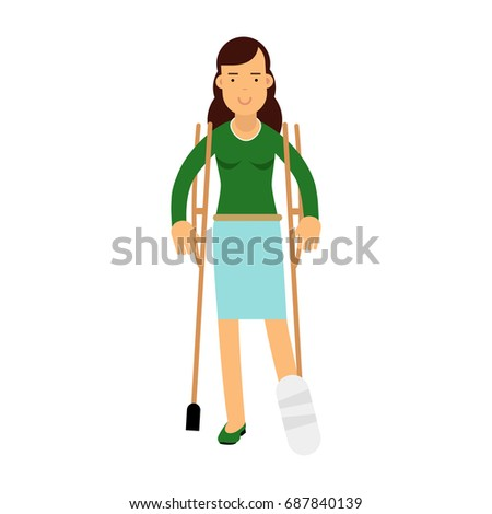 injured young brunette woman