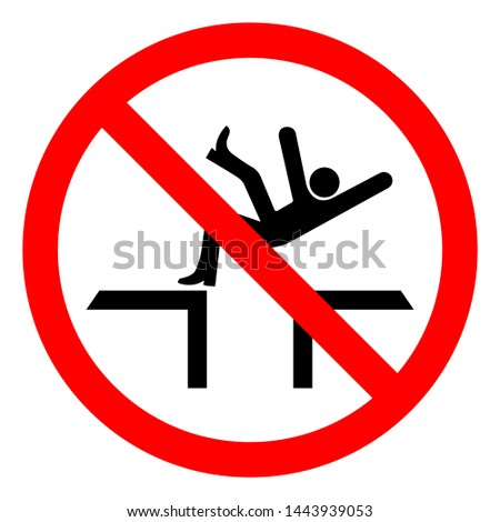 Injury Hazard Fall Hazard Symbol Sign, Vector Illustration, Isolate On White Background Label .EPS10