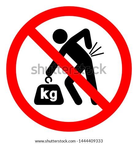Injury Hazard Lifting Hazard Symbol Sign, Vector Illustration, Isolate On White Background Label .EPS10