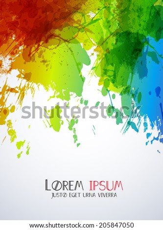 ink abstract background, easy all editable