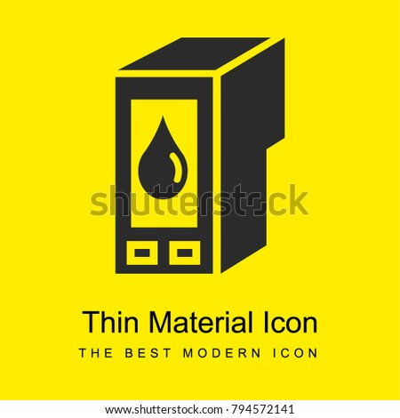 Ink cartridge refill bright yellow material minimal icon or logo design