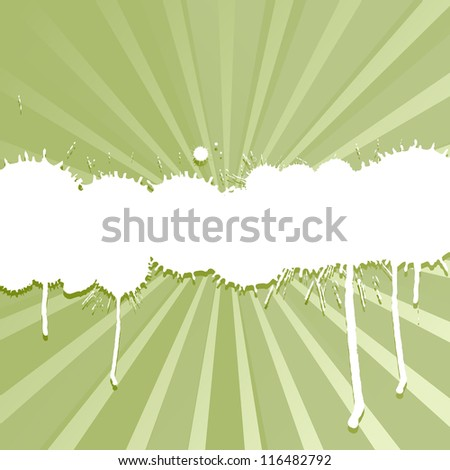 Ink color splashes vector burst background