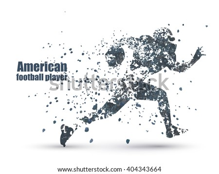 ink guy football player  vector