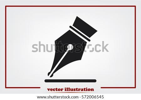 ink pen icon vector eps 10