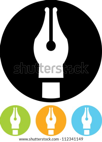 Ink Pen - Vector icon isolated
