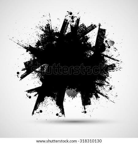 ink splash background  black