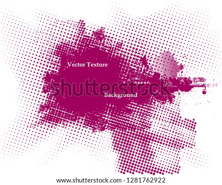 Ink Splash Background . Pink Paint Splattered Shape . Grunge texture vector. Distress banner