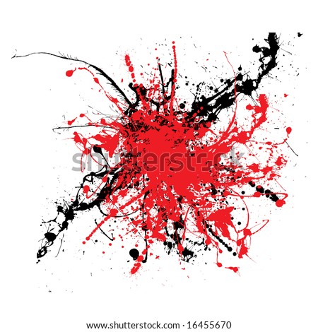 Ink splat two color tone ideal background or icon