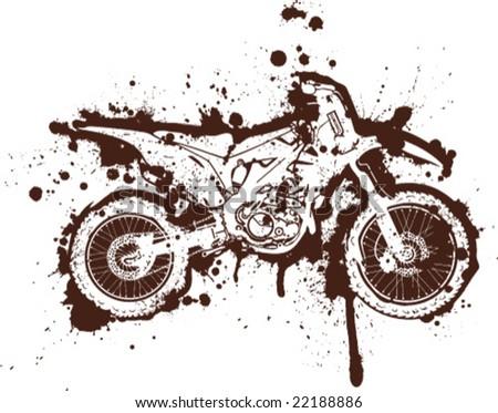 Ink Splatter Grunge Motorcross Artwork