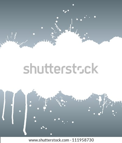 Ink strip with copy space and splashes vector background