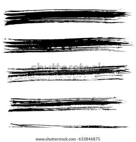 Ink vector brush strokes. Vector illustration. Grunge hand drawn watercolor texture. #633846875