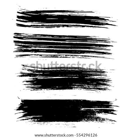 Ink vector brush strokes. Vector illustration. Grunge texture