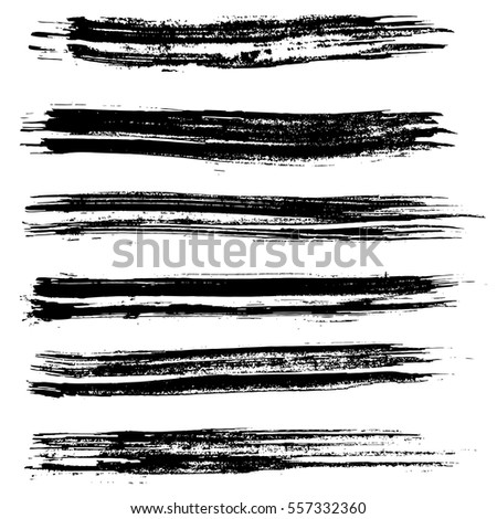 Ink vector brush strokes. Vector illustration. Grunge texture