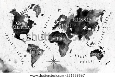 Vintage world map vector download free vector art stock ink world map in vector format black and white graphics in vintage style gumiabroncs Gallery