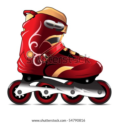 inline skating boot vector detailed