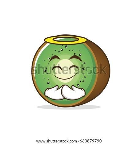 innocent kiwi fruit cartoon