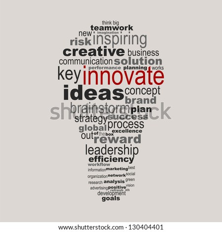 innovate business concept made