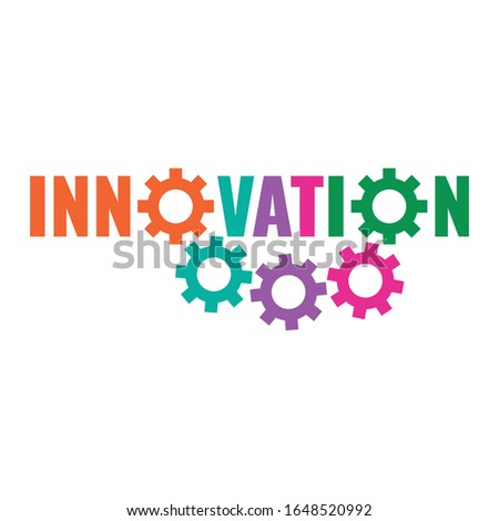 innovation and colorful wheels. wheels and innovation word