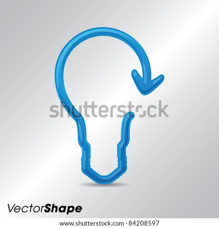 Innovation business marketing strategy concept, modern high-tech bulb with an arrow, vector illustration
