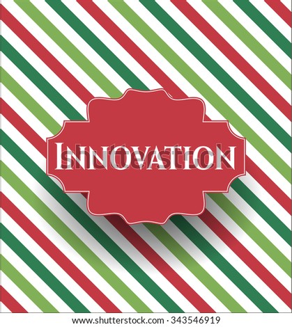 Innovation card, colorful, nice design