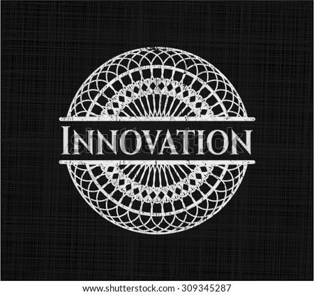 Innovation chalkboard emblem