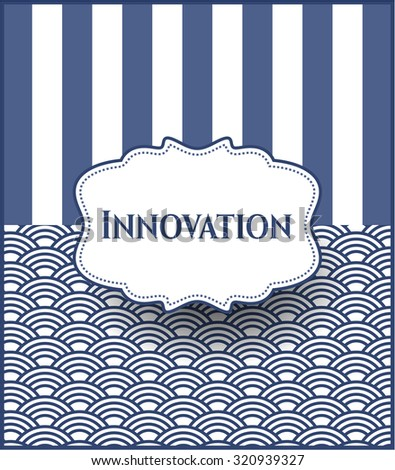 Innovation colorful card