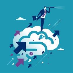 Innovation. Concept business vector illustration