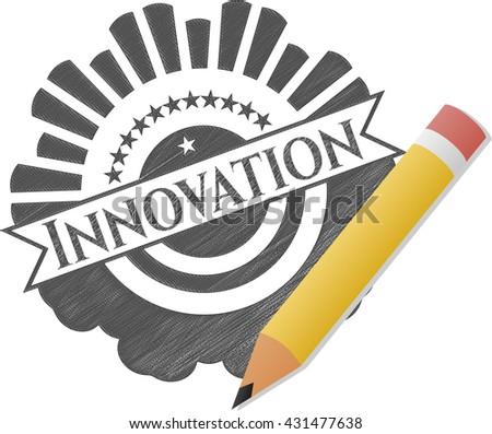 Innovation drawn in pencil