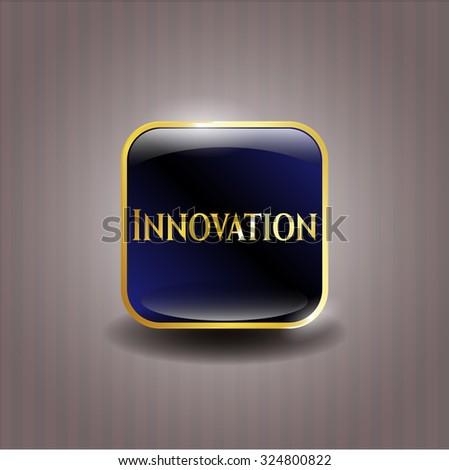 Innovation gold badge or emblem