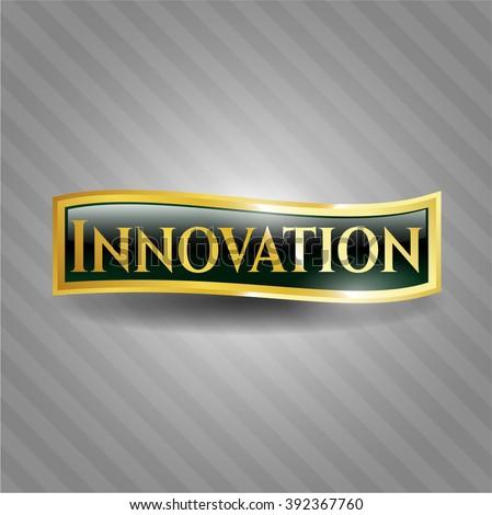 Innovation gold emblem