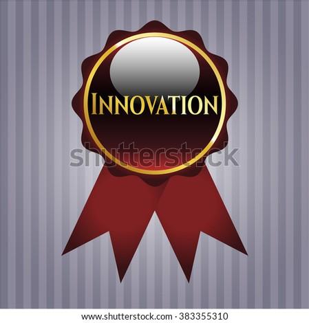 Innovation golden badge or emblem