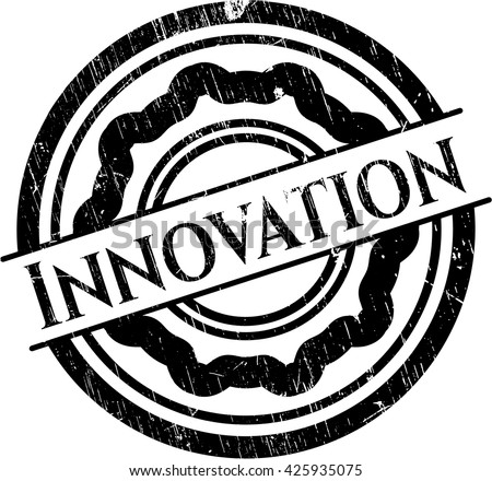 Innovation grunge style stamp