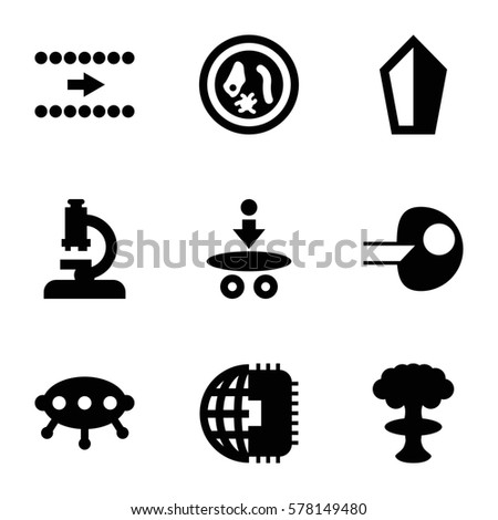 innovation icon set of 9