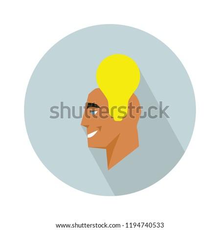innovation idea icon. Flat illustration of innovation idea vector icon for web design - creative concept